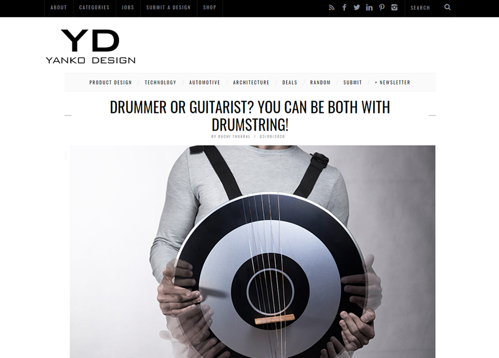 DRUMMER OR GUITARIST? YOU CAN BE BOTH WITH DRUMSTRING!