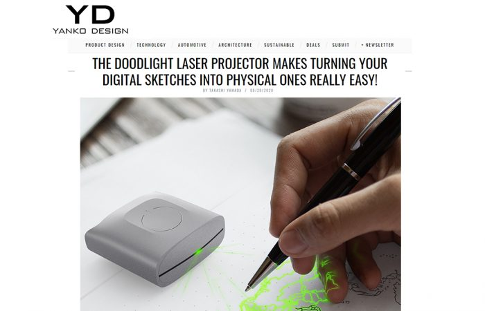 THE DOODLIGHT LASER PROJECTOR MAKES TURNING YOUR DIGITAL SKETCHES INTO PHYSICAL ONES REALLY EASY!